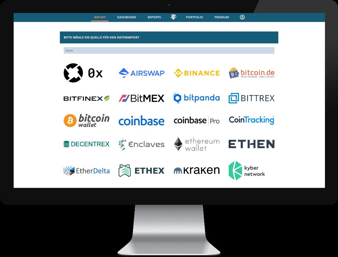 Datenimport CryptoTax